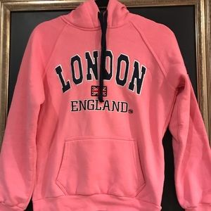 EUC Pink London England hoodie